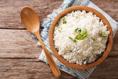 A plate of rice.