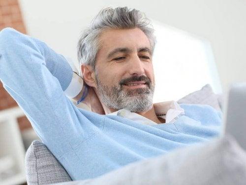 A man relaxing.
