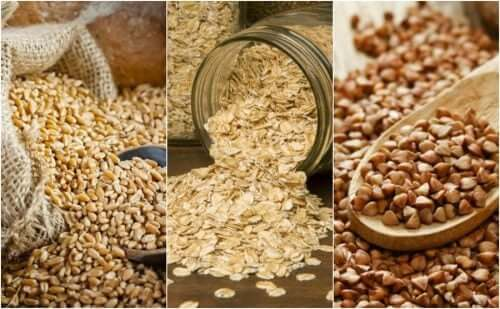 3 types of cereal grains.