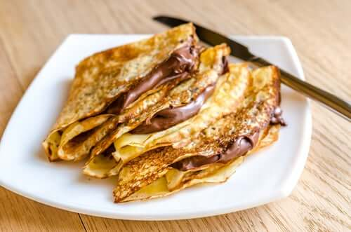 A dish of Nutella crepes.