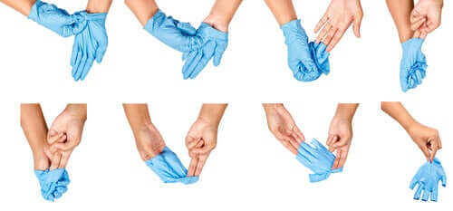 How to take off medical gloves.