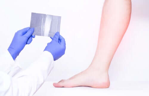 A medical test of a calf muscle.