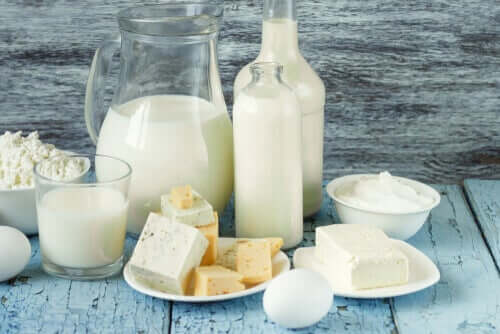 Different dairy products.