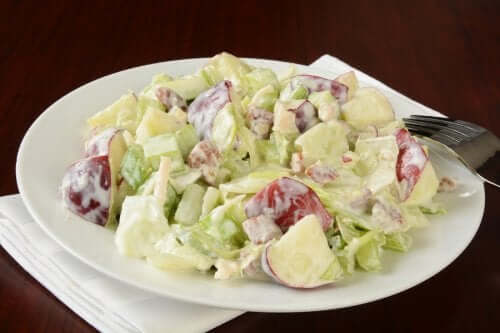 Homemade Waldorf salad.