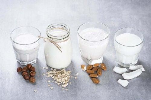 Different milks.
