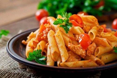 A pasta dish.