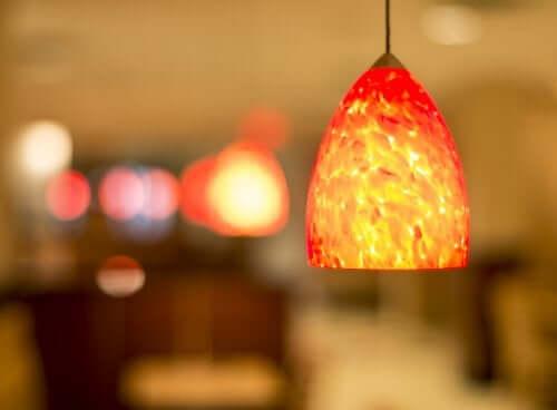 An orange lamp.