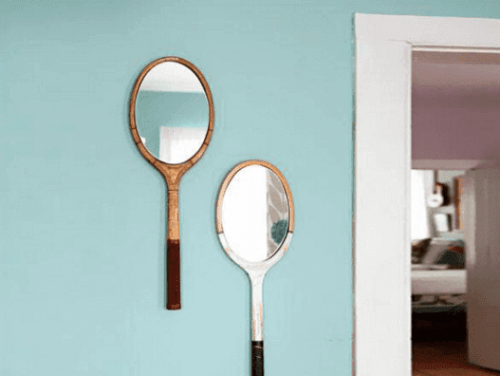 Two oval mirrors.