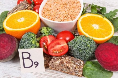 Sources of vitamin B9.