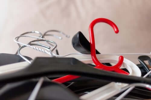 Clothes hangers.