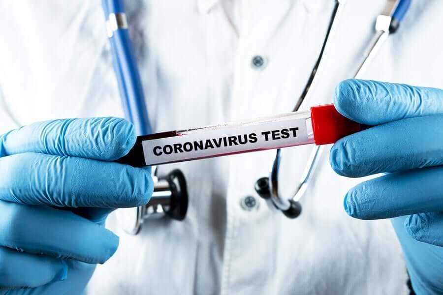 A coronavirus test.