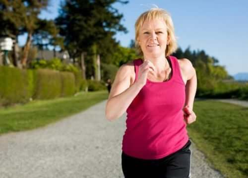 A woman exercising during menopause.