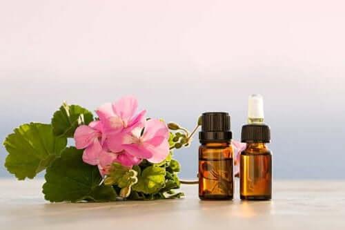 Geranium oil to combat sinusitis.