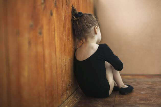 A girl with ASD (Autism Spectrum Disorder).