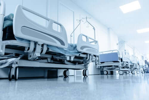 Some hospital beds.