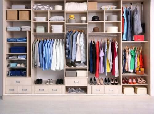 Organize your clothes.