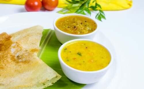 Indian Sambar stew.