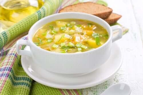 Traditional vegetable soup.