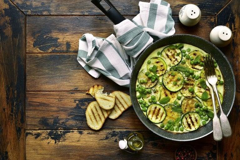 Juicy Vegan Zucchini Omelette