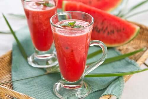 A watermelon mint infusion.