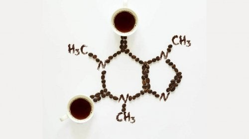 Coffee chemical structure.