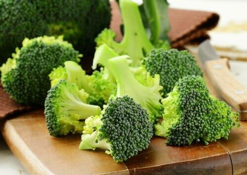 Chopped broccoli.