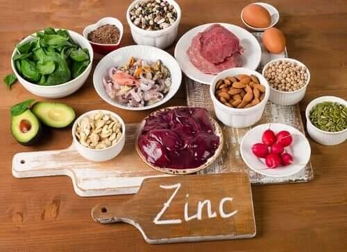 Foods with zinc.
