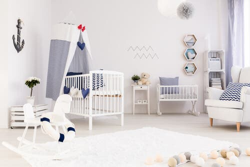 A newborn room to prepare for baby's arrival