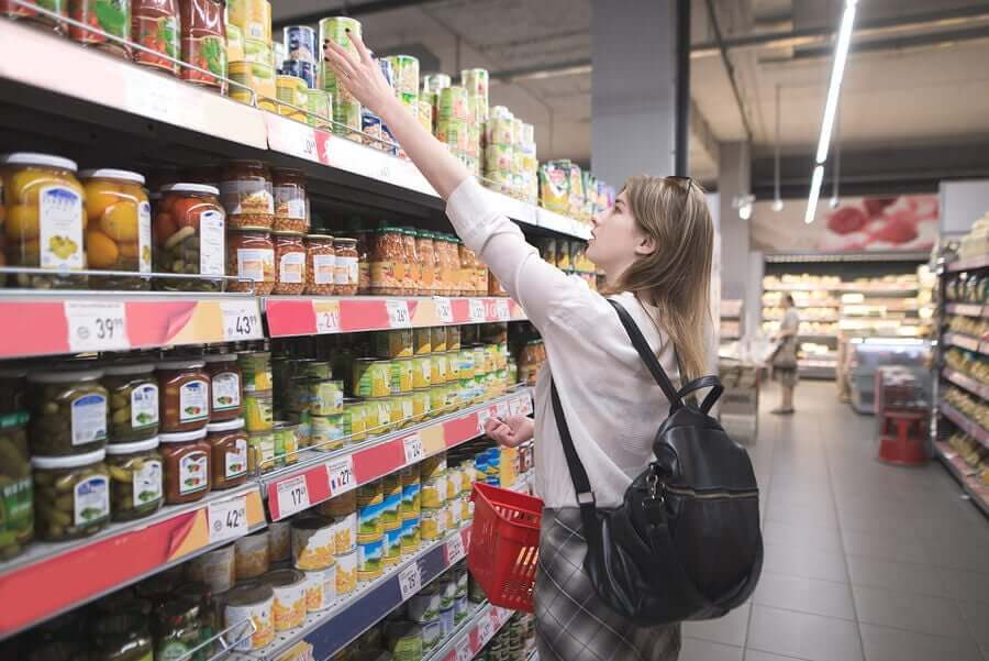 A woman in a supermarket.