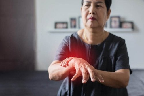 A woman with Parkinson's disease.