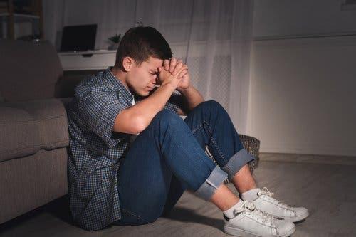 A seemingly upset young man.