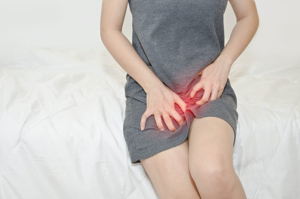 A burning sensation in the vagina