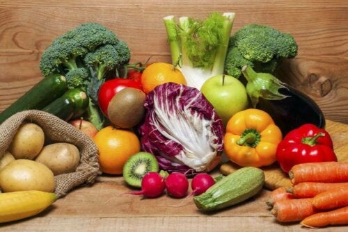 Different fruits and vegetables.