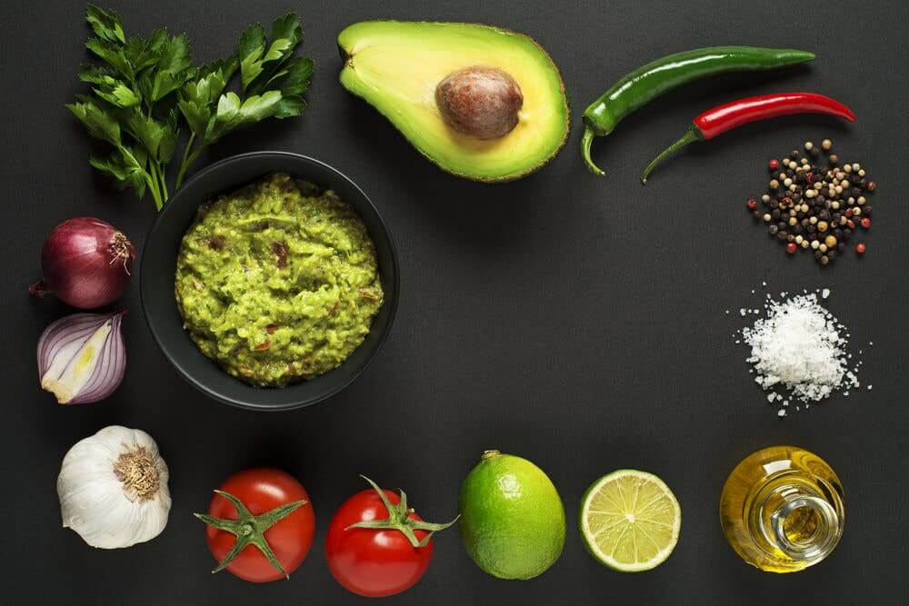 A homemade guacamole recipe.