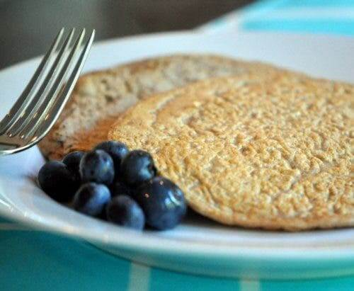Pancakes with blueberries.