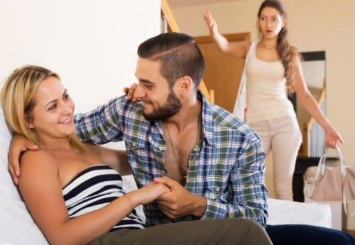 Forgiving infidelity is nearly impossible when you catch them in the act.