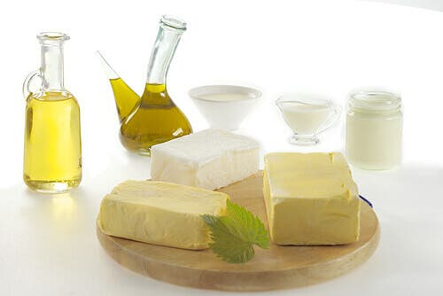 Dairy products and oils.