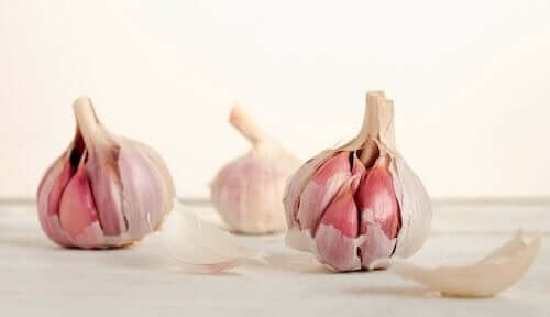 Garlic heads.