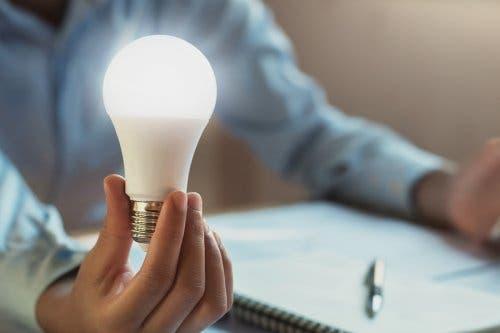 A led lightbulb.