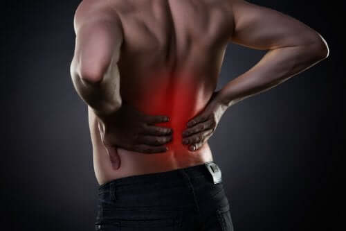 A man with lower back pain.