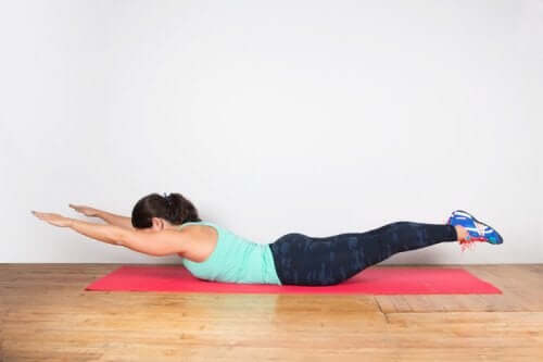 Extension exercises for the lumbar region.