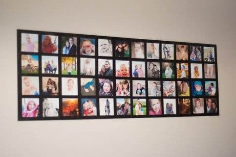 An original photo collage for decorating your wall.