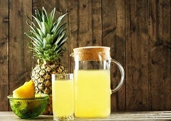 Probiotic pineapple drink.
