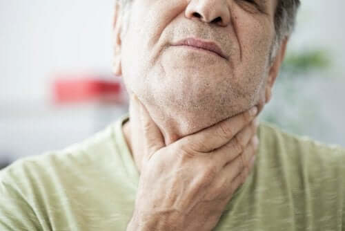 A man with swallowing difficulties.