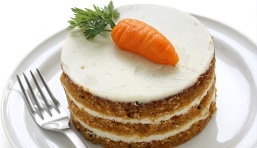 Traditional carrot cake.
