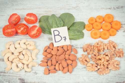 Foods that contain vitamin B7.