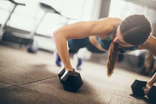 A person exercising.