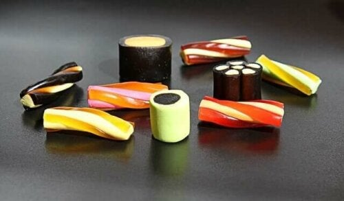 An assortment of licorice candy.