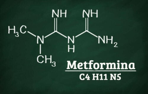 The formula for Metformina.