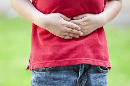 A child with a bellyache.